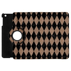Diamond1 Black Marble & Brown Colored Pencil Apple Ipad Mini Flip 360 Case by trendistuff