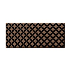 Circles3 Black Marble & Brown Colored Pencil (r) Hand Towel by trendistuff