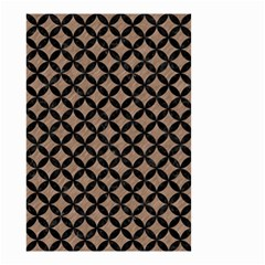 Circles3 Black Marble & Brown Colored Pencil (r) Small Garden Flag (two Sides) by trendistuff