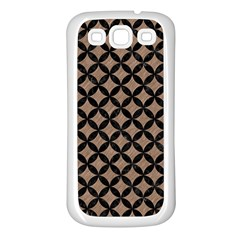 Circles3 Black Marble & Brown Colored Pencil (r) Samsung Galaxy S3 Back Case (white) by trendistuff