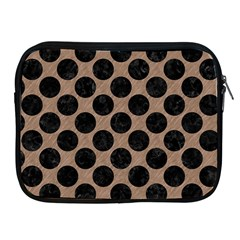 Circles2 Black Marble & Brown Colored Pencil (r) Apple Ipad Zipper Case by trendistuff