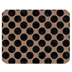 Circles2 Black Marble & Brown Colored Pencil (r) Double Sided Flano Blanket (medium) by trendistuff
