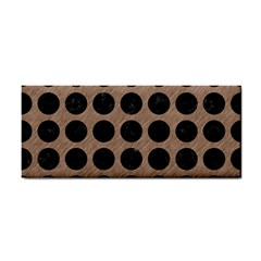 Circles1 Black Marble & Brown Colored Pencil (r) Hand Towel by trendistuff