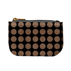 Circles1 Black Marble & Brown Colored Pencil Mini Coin Purse by trendistuff
