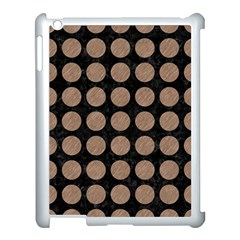 Circles1 Black Marble & Brown Colored Pencil Apple Ipad 3/4 Case (white) by trendistuff