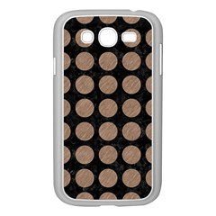 Circles1 Black Marble & Brown Colored Pencil Samsung Galaxy Grand Duos I9082 Case (white) by trendistuff