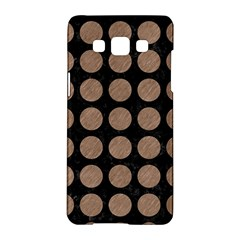 Circles1 Black Marble & Brown Colored Pencil Samsung Galaxy A5 Hardshell Case  by trendistuff