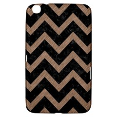 Chevron9 Black Marble & Brown Colored Pencil Samsung Galaxy Tab 3 (8 ) T3100 Hardshell Case  by trendistuff