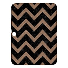 Chevron9 Black Marble & Brown Colored Pencil Samsung Galaxy Tab 3 (10 1 ) P5200 Hardshell Case  by trendistuff