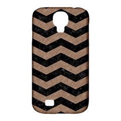 Chevron3 Black Marble & Brown Colored Pencil Samsung Galaxy S4 Classic Hardshell Case (pc+silicone) by trendistuff