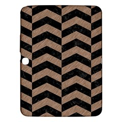 Chevron2 Black Marble & Brown Colored Pencil Samsung Galaxy Tab 3 (10 1 ) P5200 Hardshell Case  by trendistuff