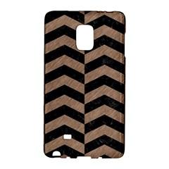 Chevron2 Black Marble & Brown Colored Pencil Samsung Galaxy Note Edge Hardshell Case by trendistuff