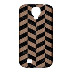 Chevron1 Black Marble & Brown Colored Pencil Samsung Galaxy S4 Classic Hardshell Case (pc+silicone) by trendistuff