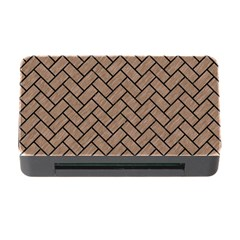 Brick2 Black Marble & Brown Colored Pencil (r) Memory Card Reader With Cf by trendistuff