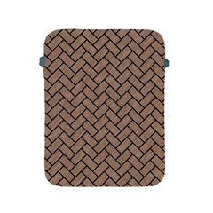 Brick2 Black Marble & Brown Colored Pencil (r) Apple Ipad 2/3/4 Protective Soft Case by trendistuff