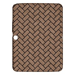 Brick2 Black Marble & Brown Colored Pencil (r) Samsung Galaxy Tab 3 (10 1 ) P5200 Hardshell Case  by trendistuff