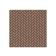 Brick2 Black Marble & Brown Colored Pencil (r) Satin Bandana Scarf by trendistuff