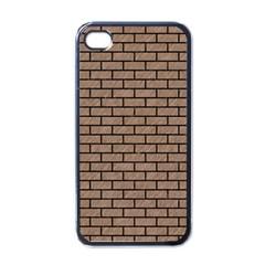 Brick1 Black Marble & Brown Colored Pencil (r) Apple Iphone 4 Case (black) by trendistuff
