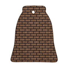 Brick1 Black Marble & Brown Colored Pencil (r) Bell Ornament (two Sides) by trendistuff