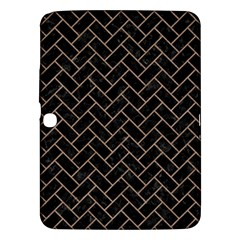 Brick2 Black Marble & Brown Colored Pencil Samsung Galaxy Tab 3 (10 1 ) P5200 Hardshell Case  by trendistuff