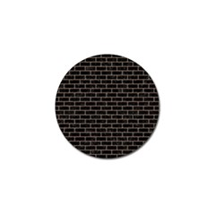 Brick1 Black Marble & Brown Colored Pencil Golf Ball Marker (10 Pack) by trendistuff