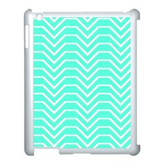 Seamless Pattern Of Curved Lines Create The Effect Of Depth The Optical Illusion Of White Wave Apple Ipad 3/4 Case (white) by Mariart