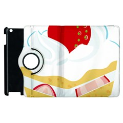Seeds Strawberry Bread Fruite Red Apple Ipad 2 Flip 360 Case by Mariart