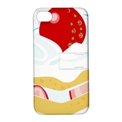 Seeds Strawberry Bread Fruite Red Apple Iphone 4/4s Hardshell Case With Stand by Mariart