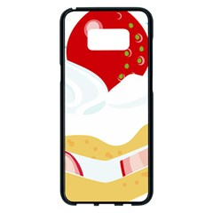Seeds Strawberry Bread Fruite Red Samsung Galaxy S8 Plus Black Seamless Case