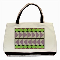 Shapes Patchwork Circle Triangle Basic Tote Bag by Mariart