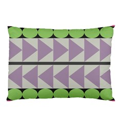 Shapes Patchwork Circle Triangle Pillow Case by Mariart
