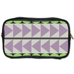 Shapes Patchwork Circle Triangle Toiletries Bags by Mariart