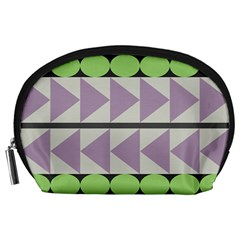 Shapes Patchwork Circle Triangle Accessory Pouches (large)  by Mariart