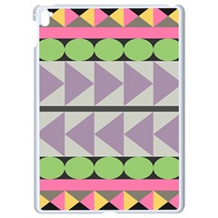 Shapes Patchwork Circle Triangle Apple Ipad Pro 9 7   White Seamless Case