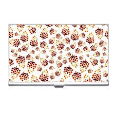 Pine Cones Pattern Business Card Holders by Mariart