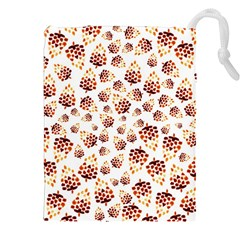 Pine Cones Pattern Drawstring Pouches (xxl) by Mariart