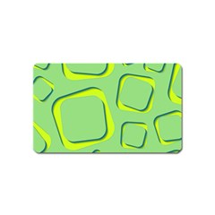 Shapes Green Lime Abstract Wallpaper Magnet (name Card) by Mariart