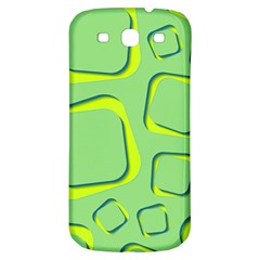 Shapes Green Lime Abstract Wallpaper Samsung Galaxy S3 S Iii Classic Hardshell Back Case by Mariart