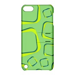 Shapes Green Lime Abstract Wallpaper Apple Ipod Touch 5 Hardshell Case With Stand by Mariart