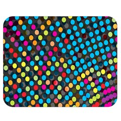 Polkadot Rainbow Colorful Polka Circle Line Light Double Sided Flano Blanket (medium)  by Mariart