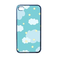 Stellar Cloud Blue Sky Star Apple Iphone 4 Case (black) by Mariart