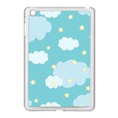 Stellar Cloud Blue Sky Star Apple Ipad Mini Case (white) by Mariart