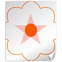 Test Flower Star Circle Orange Canvas 20  X 24   by Mariart