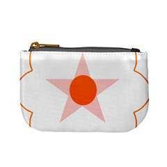 Test Flower Star Circle Orange Mini Coin Purses by Mariart