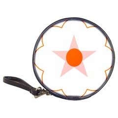 Test Flower Star Circle Orange Classic 20 Cd Wallets by Mariart