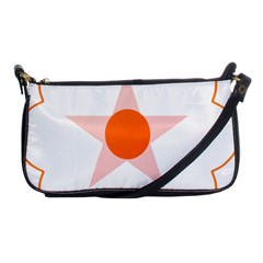 Test Flower Star Circle Orange Shoulder Clutch Bags by Mariart