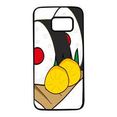 Sushi Food Japans Samsung Galaxy S7 Black Seamless Case by Mariart