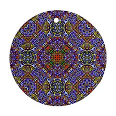 Oriental Pattern 01a Ornament (round) by MoreColorsinLife