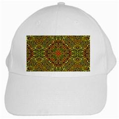 Oriental Pattern 01b White Cap by MoreColorsinLife