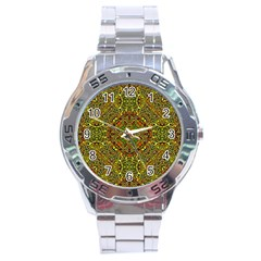 Oriental Pattern 01b Stainless Steel Analogue Watch by MoreColorsinLife